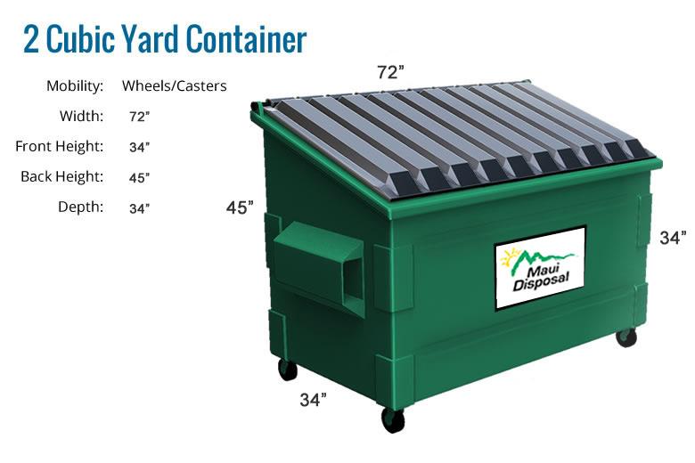 2 Cubic Yard Dumpster Related Keywords 2 Cubic Yard