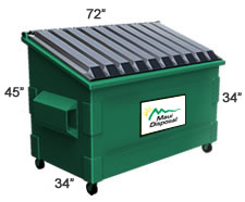 3 Cubic Yard Container