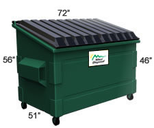 4 Cubic Yard Container